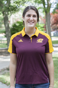 Polo - Adidas Refective Maroon With Gold Collar - Ladies