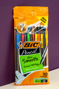Bic 10 Assorted Xtra Smooth 0.7 mm Mechanical Pencils