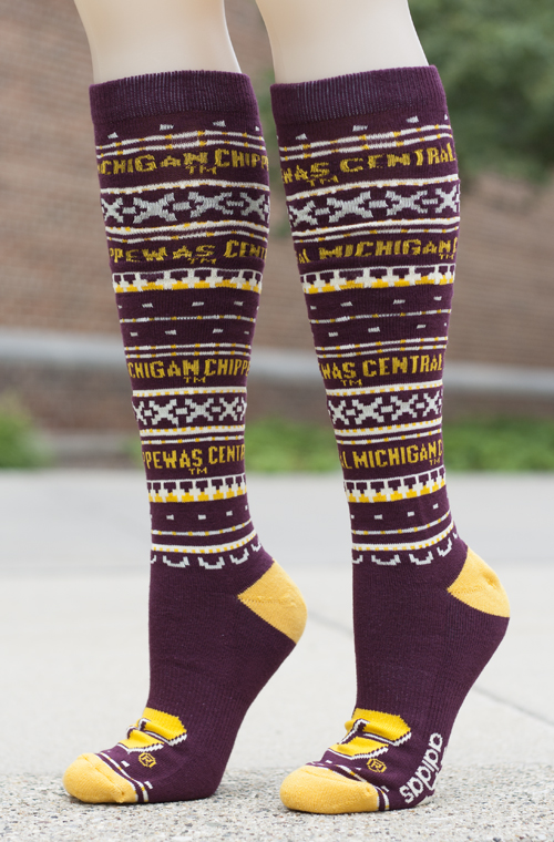 Central Michigan Flying C Patterned Adidas Knee High Socks (SKU 5026557211)