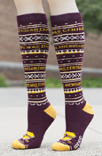 Central Michigan Flying C Patterned Adidas Knee High Socks