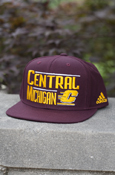Line Capital Central Michigan Flying C Maroon Flat Brim Snapback