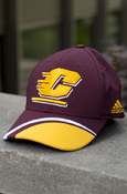 Flying C White And Gold Wave Maroon Adidas Hat With Chippewas On Back
