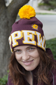 *Off-Center Flying C Maroon Adidas Pom Hat With Chippewas On Cuff