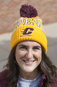Flying C Chippewas Cuffed Adidas Gold Pom Hat