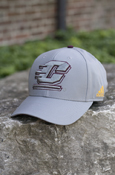 Gray Flying C On Gray Adidas Hat With Chippewas On Back