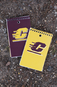 "Flying C 3"" X 5"" 75 Sheets Narrow Ruled Memo Book - Maroon Or Gold"