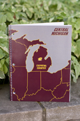 Michigan Flying C Chippewas Country 70 Sheets College Ruled Notebook