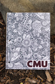 C M U Coloring Book Pattern 70 Sheet College Ruled Spiral Notebook