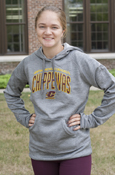 Arched Central Michigan University Flying C Ladies Adidas Hoodie