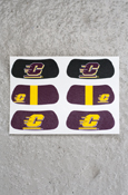 Eye Black - Black, Maroon, & Gold Flying C 3 Pair
