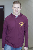 Central Michigan Flying C Maroon Under Armour Henley With Hood