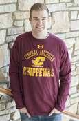 Arched Central Michigan Chippewas Maroon Under Armour Long Sleeve