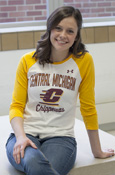 Central Michigan Chippewas Ladies Under Armour Baseball Tee