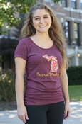 Paisley State Of Michigan Script Central Michigan Ladies T-Shirt
