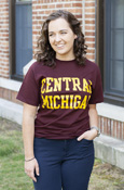 Central Michigan Block Letters Maroon T-Shirt