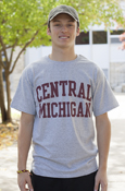 Central Michigan Block Letters Gray T-Shirt