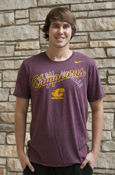 Script Chippewas Over Central Michigan Flying C Nike T-Shirt