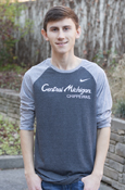 Central Michigan Above Chippewas Gray Nike 3/4 Sleeve Shirt