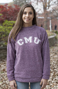Woolly Threads Cmu Maroon Heathered Crew