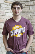 Circle Central Michigan Chippewas Flying C Maroon T-Shirt