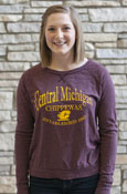 Central Michigan Chippewas Established 1892 Ladies Maroon Lightweight Crew