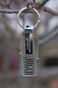 Central Michigan University Silver Alumni Key Chain