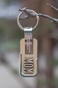 Mom - Central Michigan University Silver Key Chain