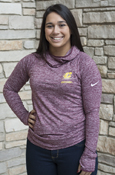 Flying C Chippewas Maroon Ladies Nike Cowl Neck Hood