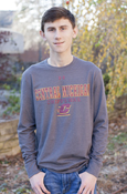 Central Michigan Chippewas Flying C Carbon Gray Long Sleeve