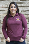 Central Michigan 1892 Charles River Ladies Maroon 1/4 Zip