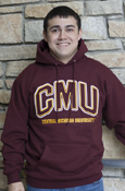 Arched C M U Central Michigan University Maroon Hoodie