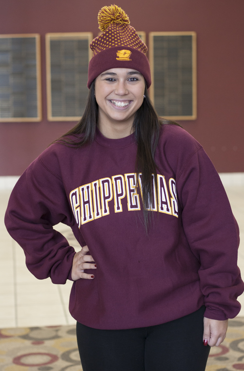 Arched Embroidered Chippewas Maroon Crew (SKU 5028201253)