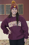 Arched Embroidered Chippewas Maroon Crew