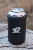 Flying C Black Vacuum Insulated Can Koozie
