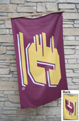3X5 Silk Screened Double Sided Maroon And Gold Flag With Grommets