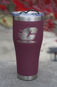 Flying C Stainless Steel Maroon Vacuum Insulated 30 Oz Tumbler