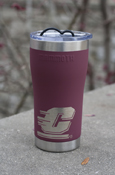 Flying C Stainless Steel Maroon Vacuum Insulated 20 Oz Tumbler