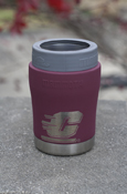 Flying C Stainless Steel Maroon Vacuum Insulated 12 Oz Can Koozie