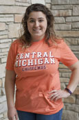 Block Central Michigan Chippewas Orange T-Shirt