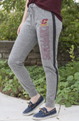 Flying C Chippewas Two Tone Gray Ladies Jogger Sweatpants