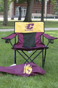 Elite Maroon Tailgate Chair with Flying C on Gold Panel