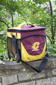 Flying C Maroon And Gold Insulated 24 Can Cooler With Bottle Opener