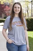 Arched Central Michigan Alumni Gray Unisex T-Shirt