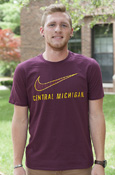 Nike Swoosh Central Michigan Maroon T-Shirt