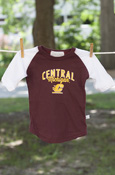 Central Michigan Flying C Kids Maroon Baseball Tee