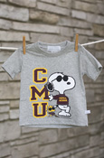 Cmu Snoopy Gray T-Shirt