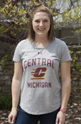 Central Flying C Michigan Ladies Under Armour Gray T-Shirt