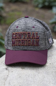 Central Michigan Heather Gray Hat With Maroon Brim