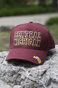Central Michigan State Of Michigan Maroon Adjustable Hat