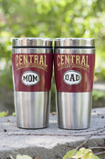 Tumbler - Central Maroon With Mom Or Dad Medallion